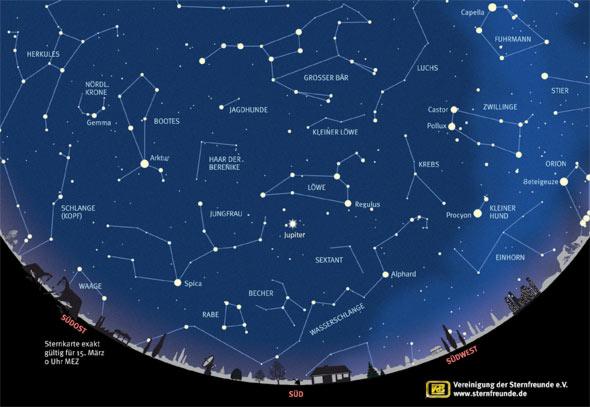 Sternkarte März 2016, Quelle: VdS
