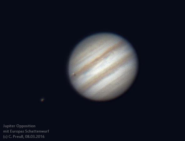 Jupiter in Opposition am 08.03.2016, (c) C. Ptreuß