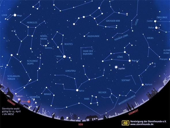 Sternkarte, April 2016, Quelle: VdS