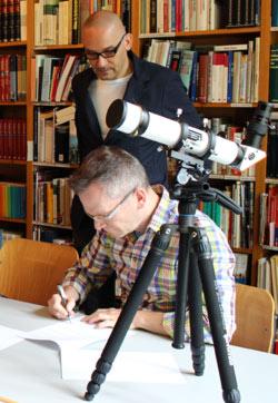 Thomas Haas unterzeichnet die Kooperationsvereinbarung