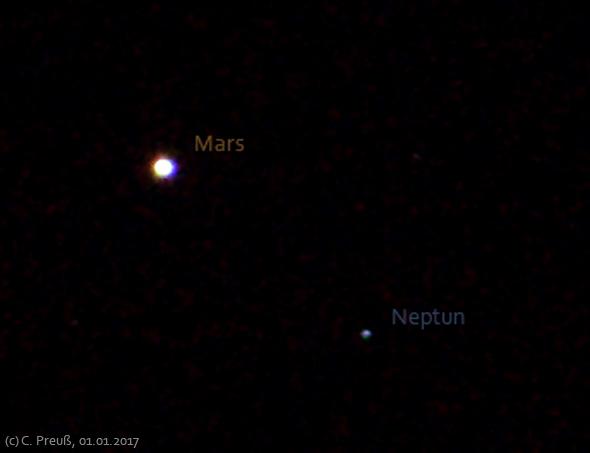 Mars und Neptun