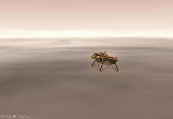 Landeanflug von NASA InSight