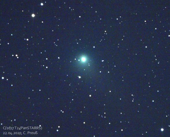 Komet-T2-Panstarrs-20-04-2020-CPreuss-350s-10s-590px
